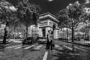 Paarfotos in Paris, Stadt der Liebe